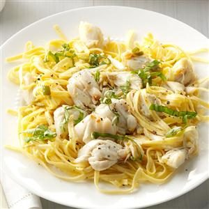 Basil-Lemon Crab Linguine