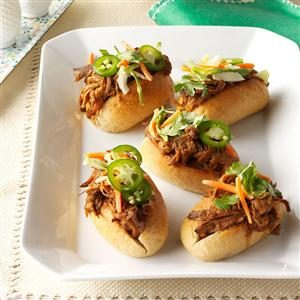 Asian Pulled Pork Sandwiches Recipe