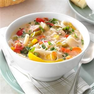 Pork & Rice Noodle Soup Recipe