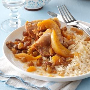 Chicken Thighs with Ginger-Peach Sauce Recipe