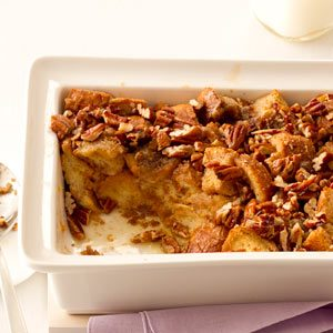 Breakfast Praline Bread Pudding Recipe