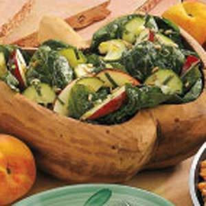 Apple Mint Spinach Salad Recipe