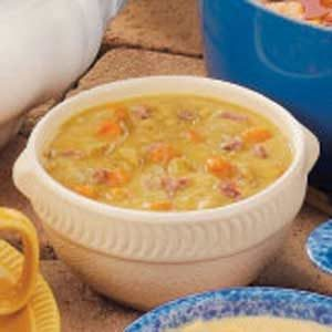Old-Fashioned Split Pea Soup with Ham Bone