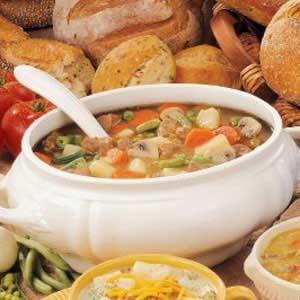 Beef Veggie Soup Recipe