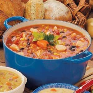 Southwestern Chicken Barley Soup Recipe