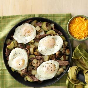 Steak & Mushroom Breakfast Hash Recipe
