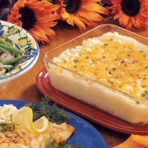 Three-Cheese Potato Bake Recipe