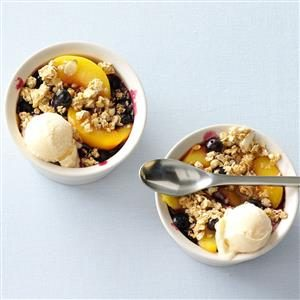 Fruit & Granola Crisp with Yogurt Recipe