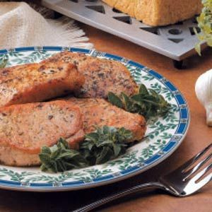 Pork Chops with Homemade Herb Rub Recipe