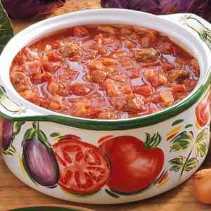Cabbage Sausage Soup