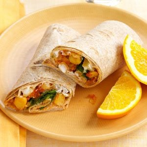 Indian-Spiced Chickpea Wraps