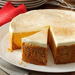 Pumpkin Cheesecake with Sour Cream Topping Recipe