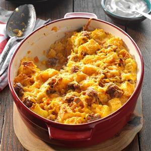Fiesta Corn Bread & Sausage Strata Recipe