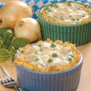 Chicken in Potato Baskets Recipe