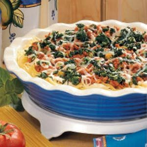 Spinach-Beef Spaghetti Pie Recipe
