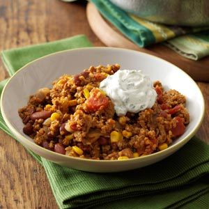 Southwest Turkey Bulgur Dinner Recipe