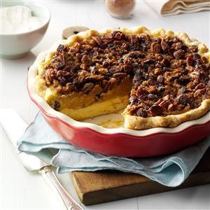 Cranberry-Pumpkin Praline Pie Recipe