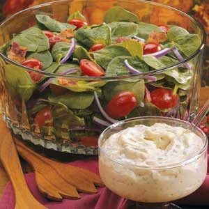 Bacon-Tomato Spinach Salad Recipe