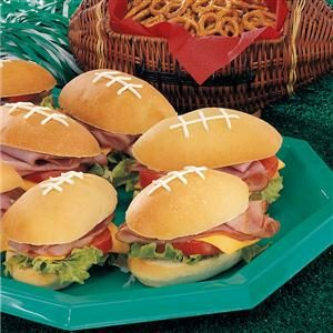 Pigskin Sandwiches Recipe