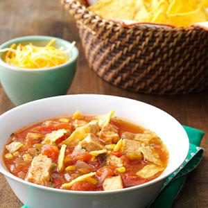 Southwestern Chicken Tortilla Soup Recipe