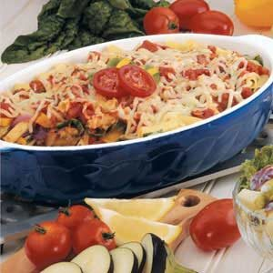 Roasted Vegetable Ziti Bake Recipe