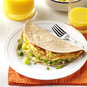 Asparagus Omelet Tortilla Wrap Recipe