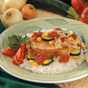 Pork Chop Veggie Medley Recipe