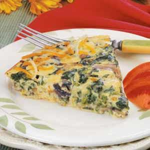 Crustless Mushroom Spinach Tart Recipe photo by Taste of Home