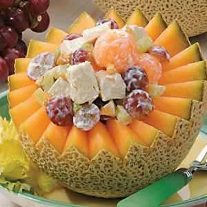 Melon Turkey Salad Recipe