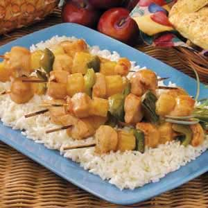 Plum-Glazed Chicken Kabobs