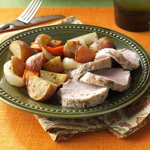 Roasted Pork Tenderloin and Vegetables Recipe