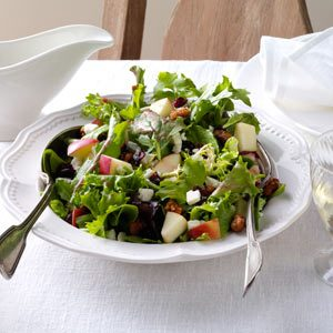 Mixed Green Salad with Cranberry Vinaigrette Recipe
