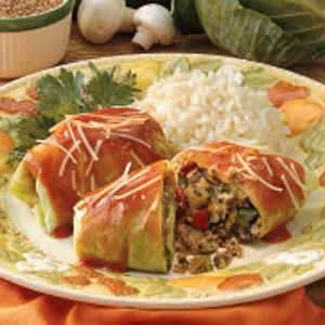 Vegetarian Cabbage Rolls Recipe photo by Taste of Home