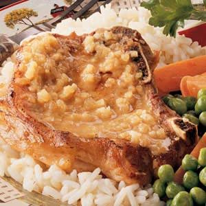Apple-Mustard Pork Chops Recipe