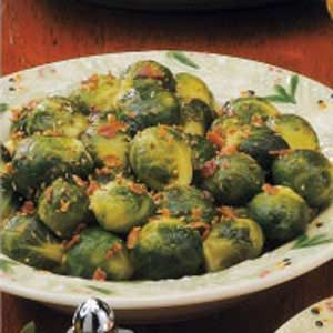 Bacon-Topped Brussels Sprouts Recipe