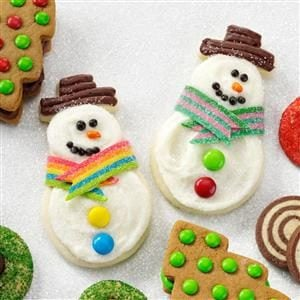 Snowman Butter Cutouts Recipe