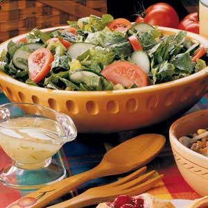 Tossed Salad with Lime Vinaigrette Recipe