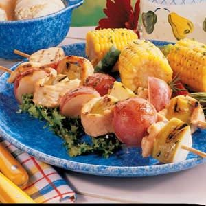 Tangy Turkey Kabobs Recipe