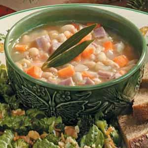 White Bean 'n' Ham Soup Recipe