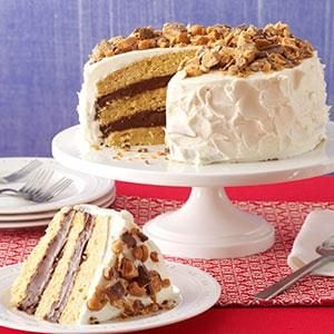 Quicker Blue-Ribbon Peanut Butter Torte Recipe