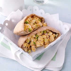 Ham & Egg Pita Pockets Recipe