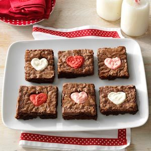 Valentine Heart Brownies Recipe