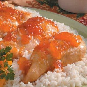 Saucy Apricot Chicken Recipe