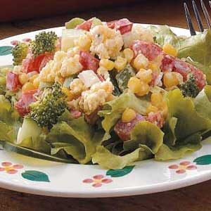 Crisp Corn Bread Salad Recipe