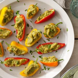 Garbanzo-Stuffed Mini Peppers Recipe