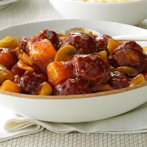 Sweet BBQ Meatballs Recipe