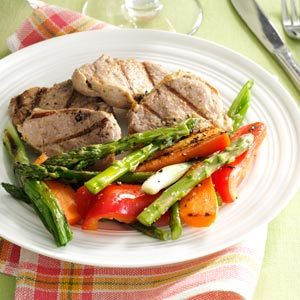Grilled Pineapple Pork & Vegetables Recipe