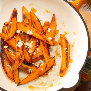 Sweet Potato Fries with Blue Cheese