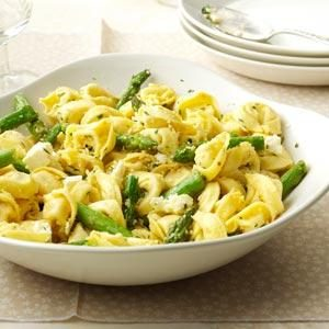 Tortellini with Asparagus & Lemon Recipe