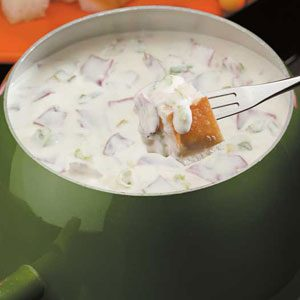 Creamy Chipped Beef Fondue Recipe